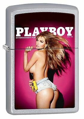 New In Box Zippo Lighter- Playboy Pin Up Girl April 2014 Mag Cover