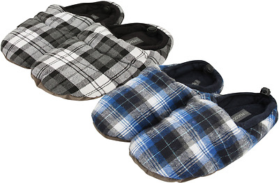Mens Winter Stuffed Slippers Warm Indoor  Shoe Plush Soft Comfy Cosy Peacocks
