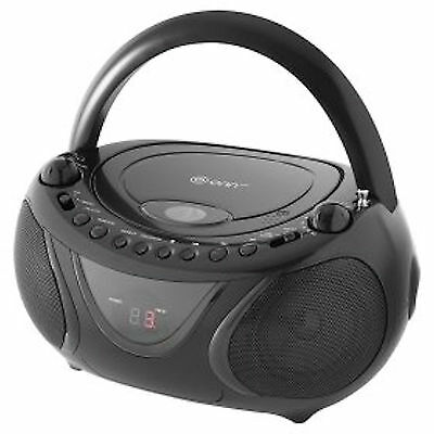 KS-858B Portable Boombox CD Player with AM/FM Radio and LED Display - Black