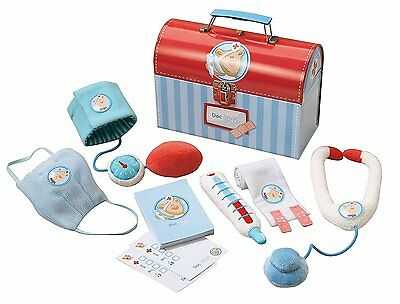 Doc HABA Little Doctor Set 6 Piece Set in Sturdy Carrying Case for Ages 2 and Up