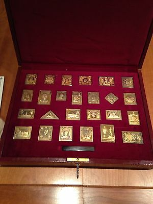 The Empire Collection Set of 25 Gilt Sterling Silver Stamp Ingots 471 Grams