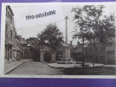 Old Postcard Of The Memorial & Old Market Hall,,campden,glos.