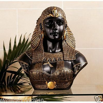 Queen Cleopatra Bust, Life Size, Neoclassical, Egyptian Decor, Alexandian Sculpt