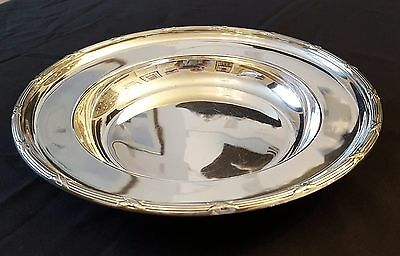 Silver plated dish engraved with the White Star Line flag.