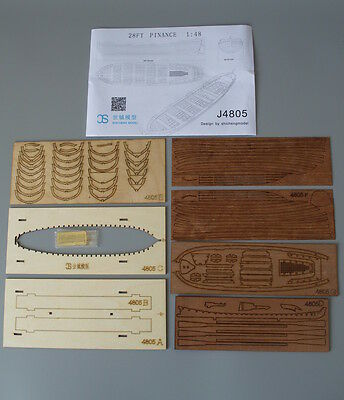 Full Rib Scale 1:48 Model Ship Life Boat 4805 Plnance lifeboat Wooden model kit
