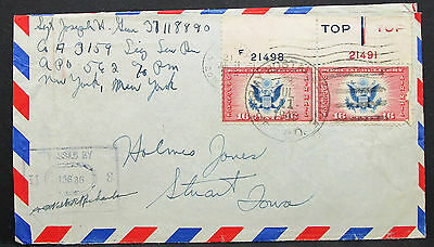 US Airmail Envelope Special Delivery Dual Stamp Rate 32c USA Lupo Brief (H-7970