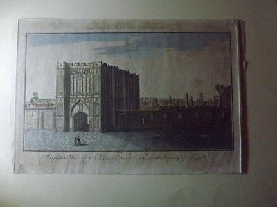 A 1790 Engraving Of Bury St Edmund's Abbey
