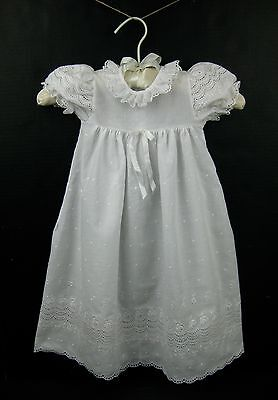 Vintage Alexis Embroidered Baptism Christening Baby Girl Gown Dress 6 Months