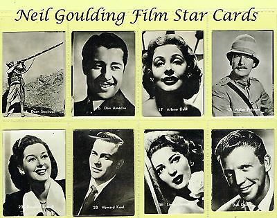 Belgian Chewing Gum - Film Stars 1950s Medium/B&W/Numbered/Mixed Case REF: BEL5