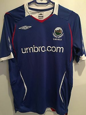Genuine Linfield Football Soccer Home Shirt Size S 2008/2009 Umbro