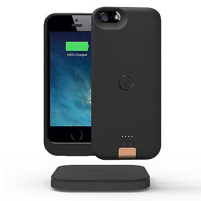 Duracell Powermat Rechargeable Power Case for iPhone 5/5S with Charging Pad BLK