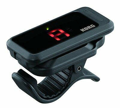 Korg PC-1 Pitchclip Chromatic Clip-on Guitar Tuner Black - includes battery.