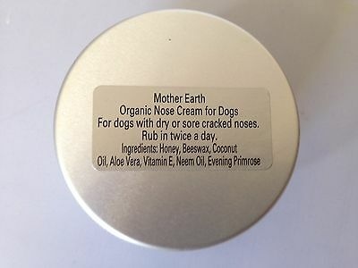 Organic nose cream for dogs with dry cracked sore noses 50g
