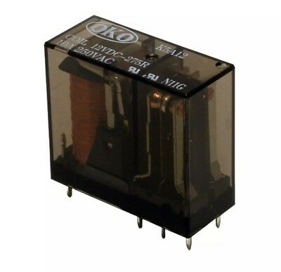 K5A12 Relay, DPCO, 10A, 12v, 275R (pack of 2)