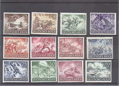 serie complete  timbres allemands du lll reich ww2  39/45