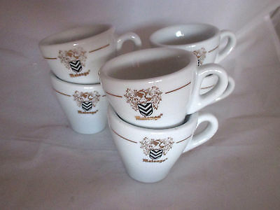 Lot 6 tasses café publicitaires Malongo bar bistrot 6 advertising coffee cups