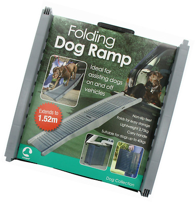 Folding Dog Travel Ramp For Assisting Dogs From Vehicles Portable Lightweight