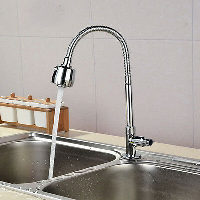 Flexible 360° Brass Cold Kitchen Pull Out Spray Sink Mixer Tap Faucet