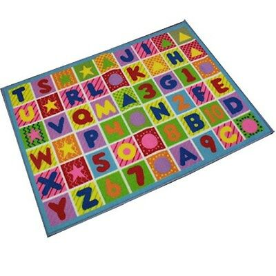 Large Alphabet Numeric Play Mat Children's Kids Carpet Rug Playroom 80 X 110Cm
