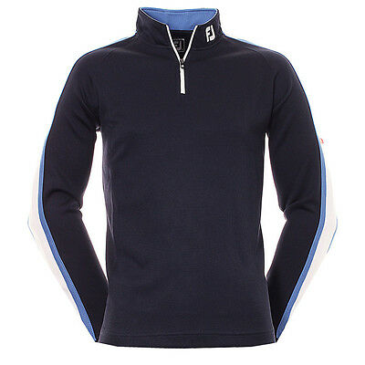Footjoy Textured Chill Out / Golf Top 92557 Navy / White / Blue Mens 2016