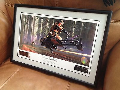 Ralph McQuarrie Signed Lithograph SPEEDER BIKE CHASE STAR WARS Vintage Figure