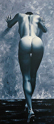 NUDE  FEMALE STUDY  A3+ size PRINT of the original oil painting