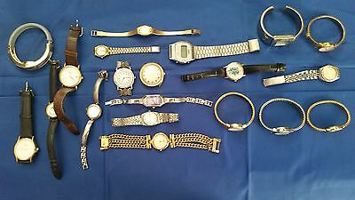 LOT OF 20 USED WRISTWATCHES for parts