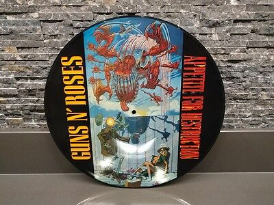 GUNS N ROSES Appetite For Destruction PICTURE DISC Slash Axl Rose Duff McKagan