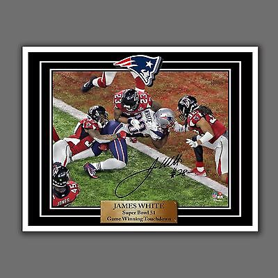 James White, Super Bowl 51, Game Winning Touchdown, Autographed Photo Replica