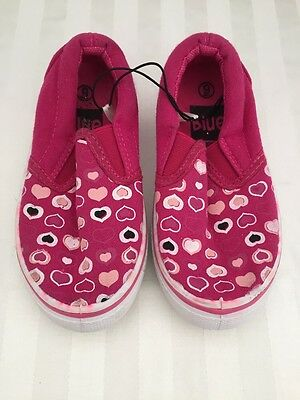 """Girls Shoes Size 9 Pink Hearts """"Blue Suede"""" Toddler"""
