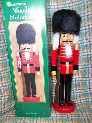 14 inch /36 cm Wooden Nutcracker Soldier english