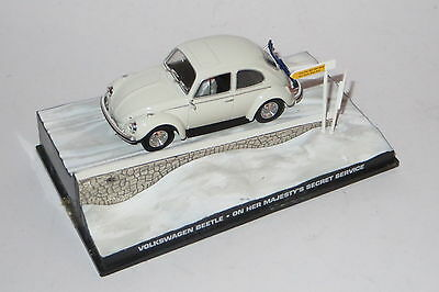 james bond car collection diecast 1:43 VOLKSWAGEN BEETLE OHMSS 007