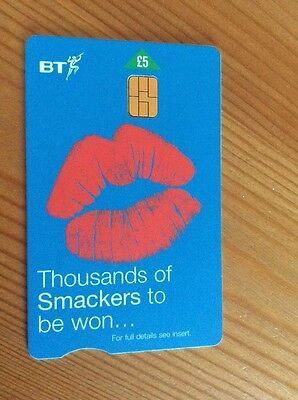 Collectable BT Phone Card Thousands of Smackers Blue £5