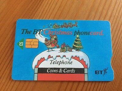 Collectable BT Phone Card The BT Christmas Phonecard 2001