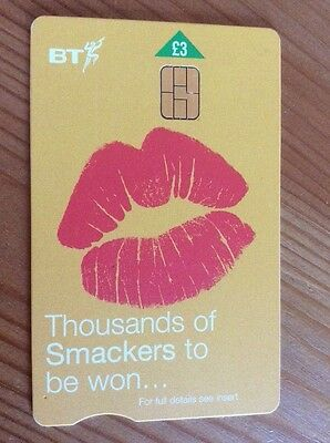 Collectable BT Phone Card Thousands of Smackers Yellow £3