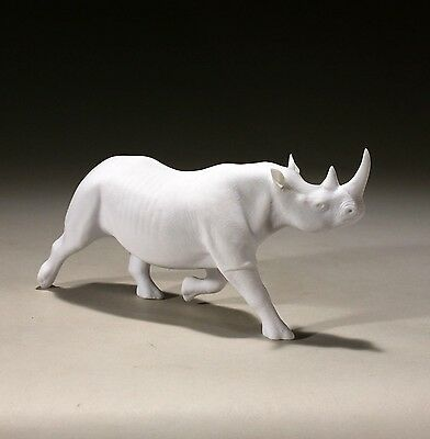 RHINO Sculpture New direct from John Perry 6in tall Free Standing Pellucida