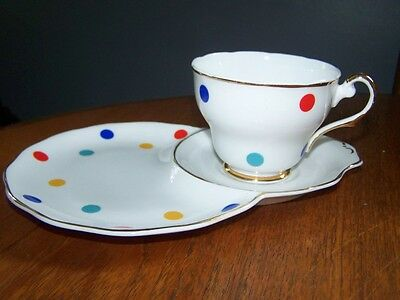Alfred Meakin ?  multi dot  cup saucer plate