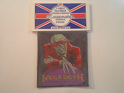 Vintage MEGADETH  80s Unused PATCH thrash metal slayer metallica anthrax t shirt