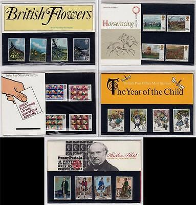 GB 1979 MNH Presentation Packs x5 Inc Flowers Child Horses Hill European #A1918