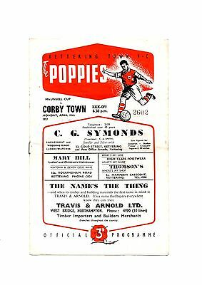 Kettering Town v Corby Town Maunsell Cup 1957