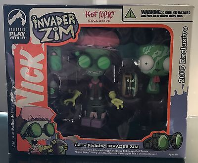 Invader Zim Palisades Toys Exclusive Figure Hot Topic Germ Fighting New GIR 2005
