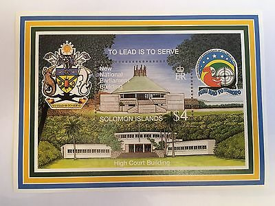 Solomon Islands Minisheet Mnh 1998 High Court Building Parliament