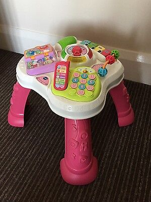 vtech play and learn activity table pink RRP 24.99