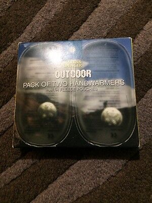 M&S HAND WARMERS WITH FLEECE POUCHES Brand New Boxed Outdoor
