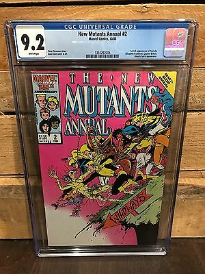 New Mutants Annual #2 Cgc 9.2 Nm- 1St U.s. App Of Psylocke (Id 7653)