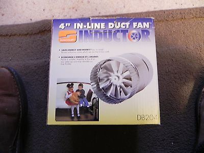 Suncourt 4-inch In-Line Inductor Duct Fan - DB204 - NEW