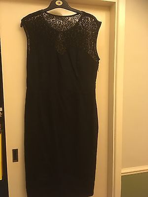 Lindy Bop Size 14 Little Black Dress With Lace Detail Brand New With Tags