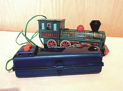 Marx Tin Litho Battery Remote Control Locomotive - Works!