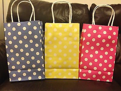 20 Quality Paper Gift Bags With Handles 6 Colours Available