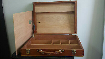Vintage Artist Paint Box with wooden palette